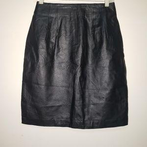 100% vintage Leather skirt (high waisted)